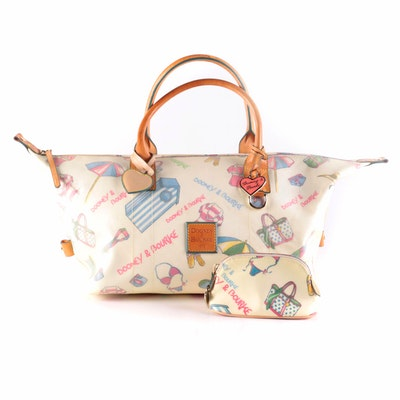 Dooney & Bourke Miami Weekender Bag with Leather Trim and Accessory Pouch