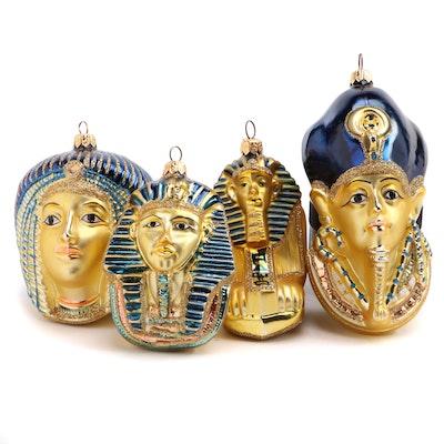 "Kurt S. Adler ""Tutankhamen"" and Other Polonaise Collection Christmas Ornaments"