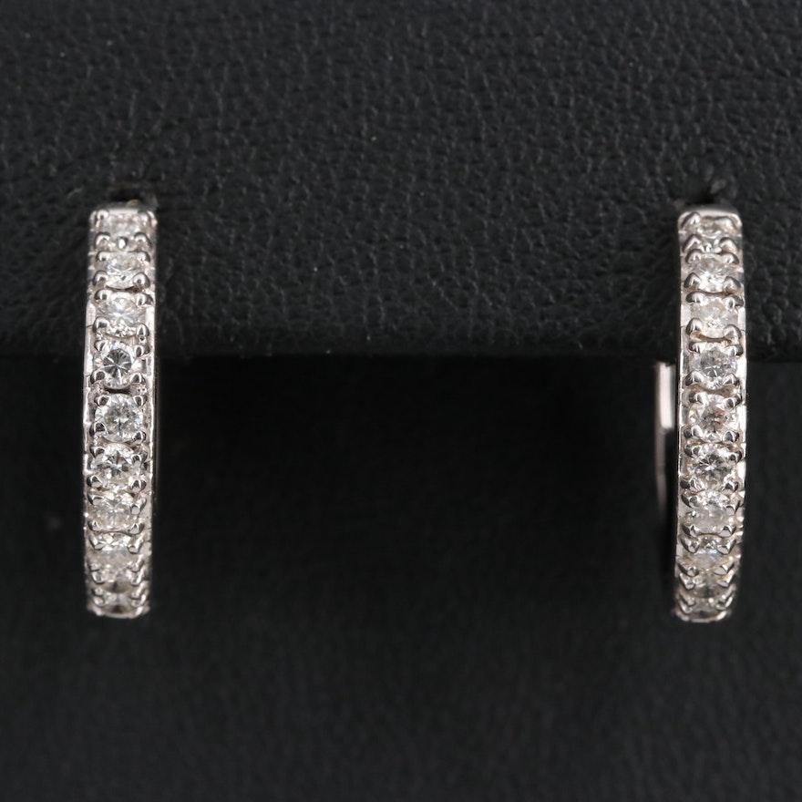 Sonia B 14K Diamond Hoop Earrings