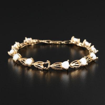 14K Opal Link Bracelet
