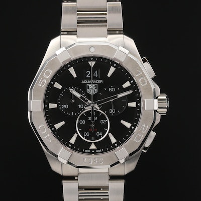 TAG Heuer Aquaracer Stainless Steel Chronograph Quartz Wristwatch