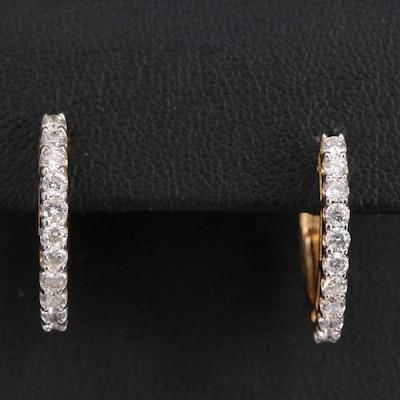 Sonia B. 14K Diamond Hoop Earrings