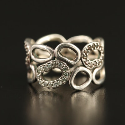 Pandora Sterling Silver Cubic Zirconia Openwork Band