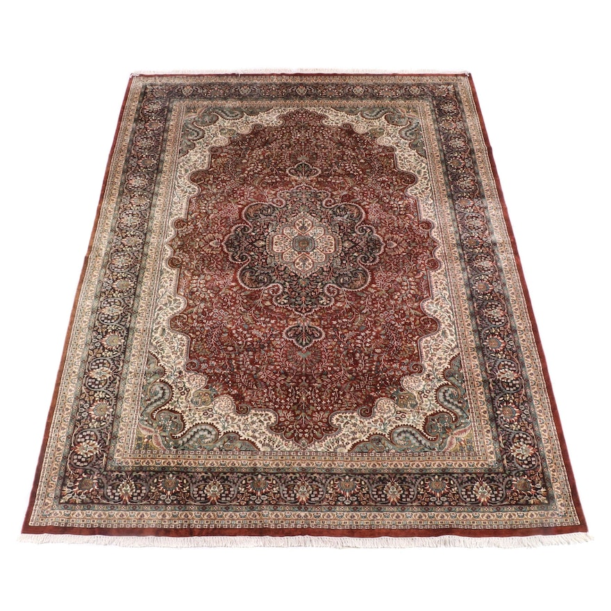 8'11 x 12'10 Hand-Knotted Persian Fereghan Wool Rug