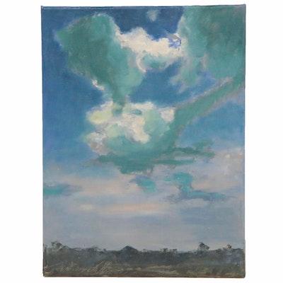 "Garncarek Aleksander Landscape Oil Painting ""Chmury,"" 2020"