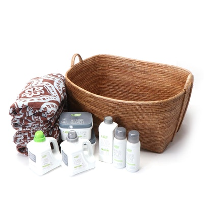 "Amway ""Legacy of Clean"" Natural Laundry Supplies and Laundry Basket"