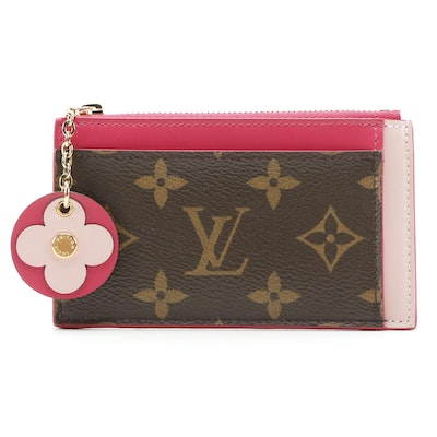 Louis Vuitton Limited Edition Zipped Card Holder in Monogram Canvas and Leather