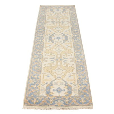 2'7 x 8'2 Hand-Knotted Turkish Oushak Runner