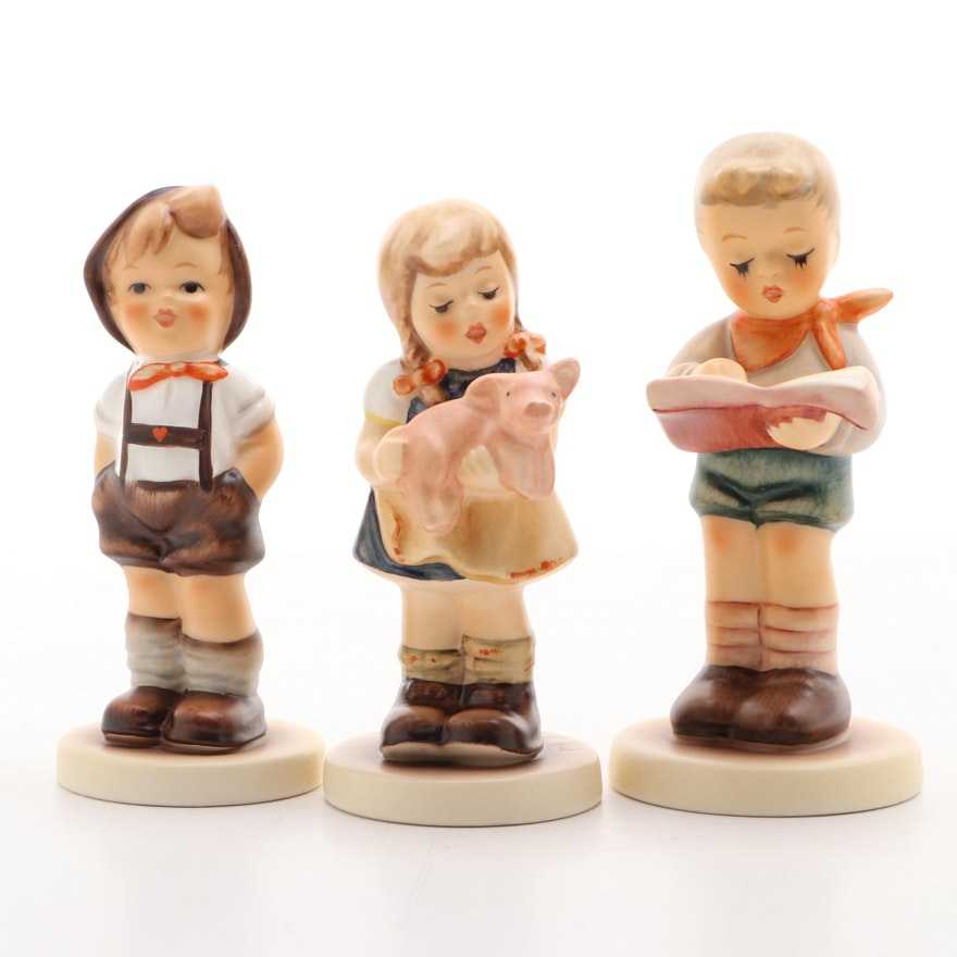 "Goebel M.I. Hummel Hand-Painted Porcelain Figurines, Including ""Honor Student"""