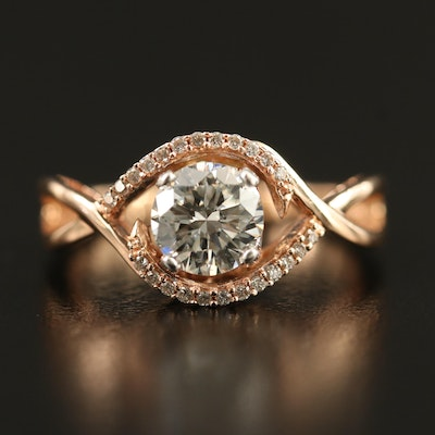 Le Vian 14K 1.10 CTW Diamond Ring with Twisted Shoulders