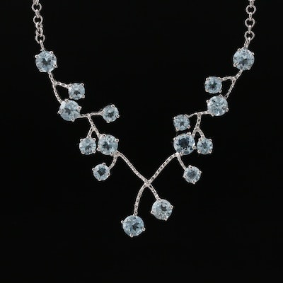 Sterling Silver Topaz Necklace