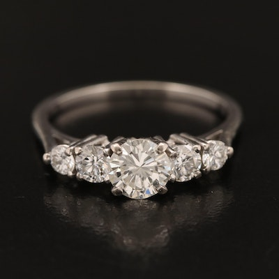 Vintage Jabel 14K 1.20 CTW Diamond Ring