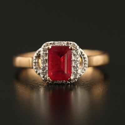 9K Corundum and Sapphire Ring