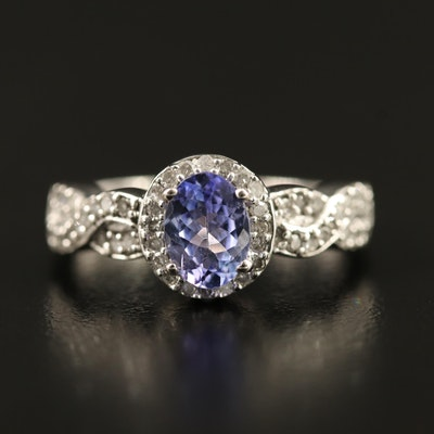 9K Tanzanite Diamond Ring