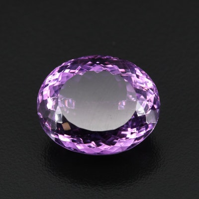 Loose 33.21 CT Oval Faceted Amethyst