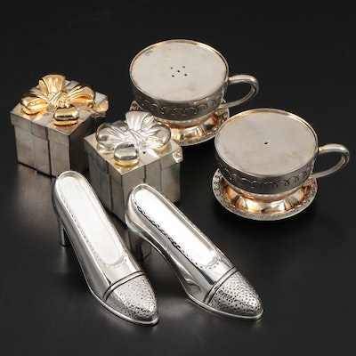 Godinger Silver Plate Novelty Salt and Pepper Shakers
