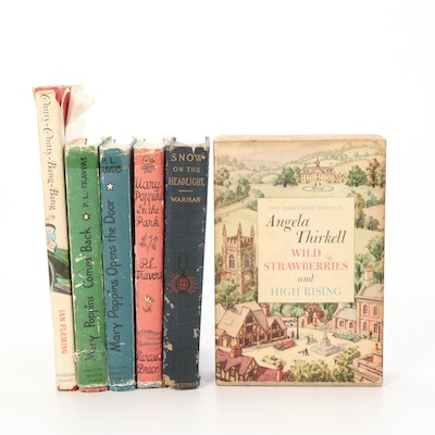 Mary Poppins Volumes and Other Fiction Books, 1899 and Mid-20th C