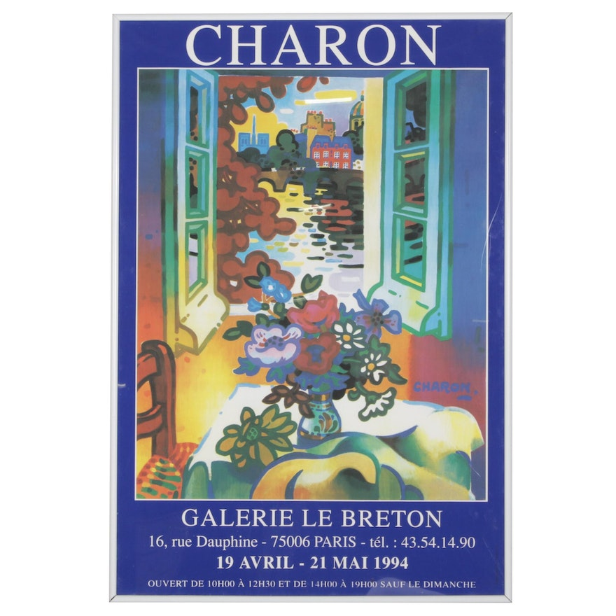 Digital Print Exhibition Poster after Guy Charon for Galerie le Breton