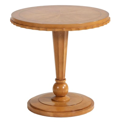 Biedermeier Style Center Table with Scalloped Apron