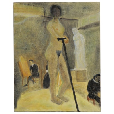Kenneth Peyser Oil Painting of an Academic Figure Study, 21st Century