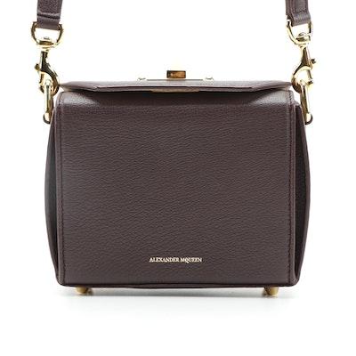 Alexander McQueen  Box Shoulder Bag in Burgundy Leather