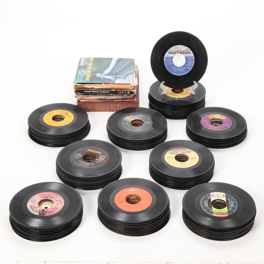Collection of 45 RPM Records Including Soundtracks and Show Tunes