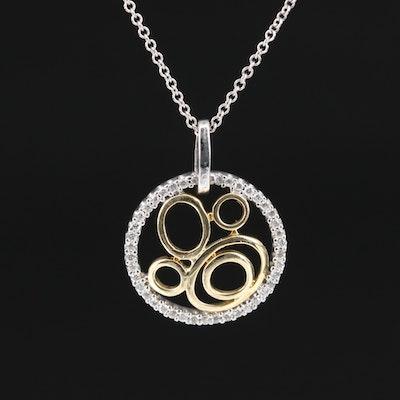 14K Diamond Concentric Necklace