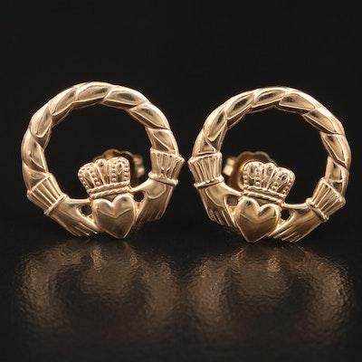14K Claddagh Earrings