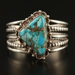 Sterling Silver Western Turquoise Cuff