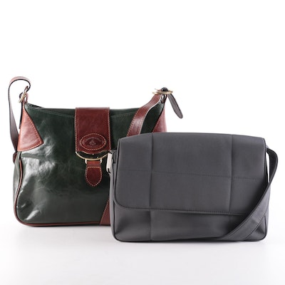 Aldo Filosini and Perry Ellis Forest Green Shoulder Bags