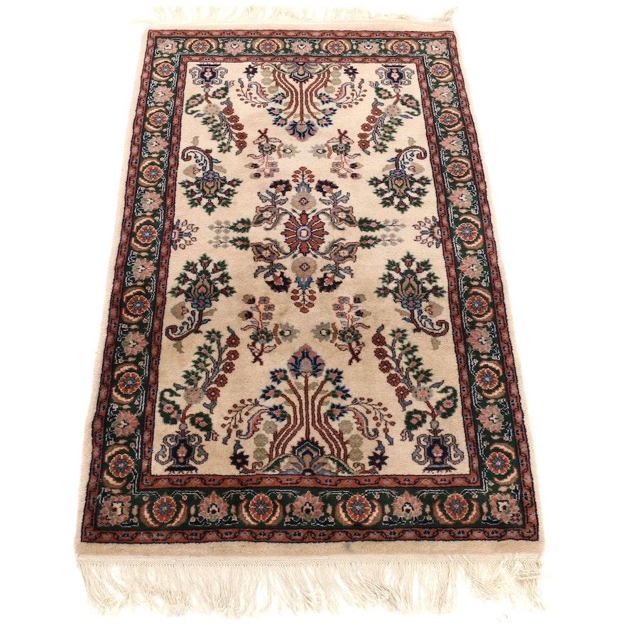 3'1 x 5'10 Handwoven Indo Persian Tabriz Rug