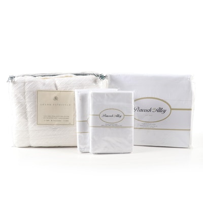 Grand Patrician Egyptian Cotton Blanket, Peacock Alley Sateen Sheet Set, & More