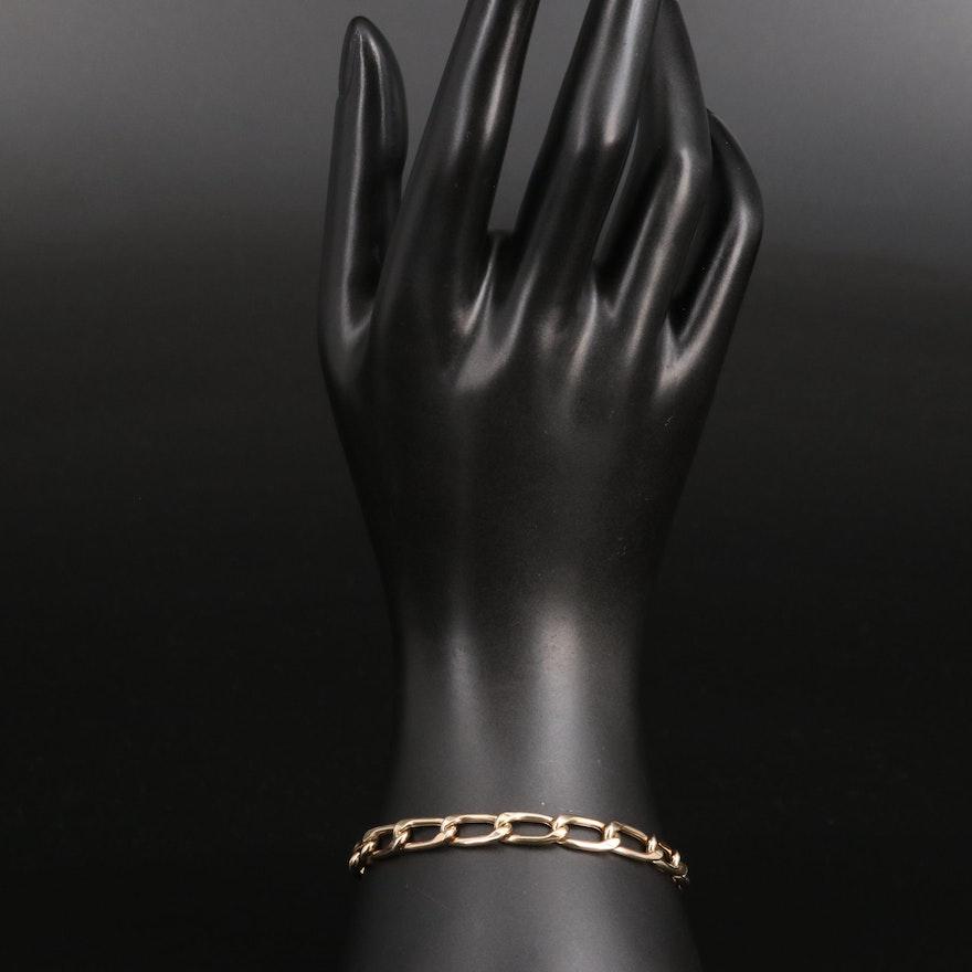 14K Curb Chain Bracelet