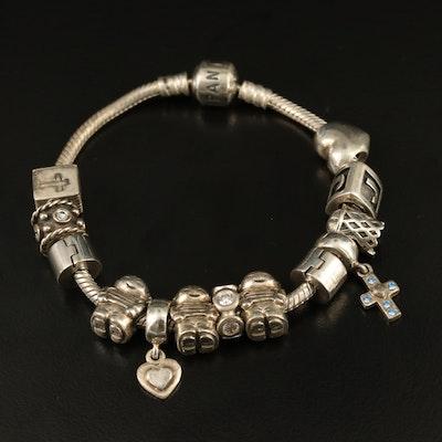 Pandora Sterling Charm Bracelet
