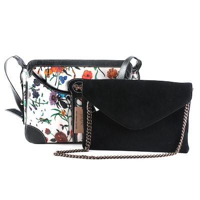 J. Crew Envelope Clutch and Floral Coated Canvas Bag