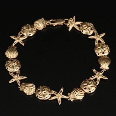 14K Ocean Life Link Bracelet