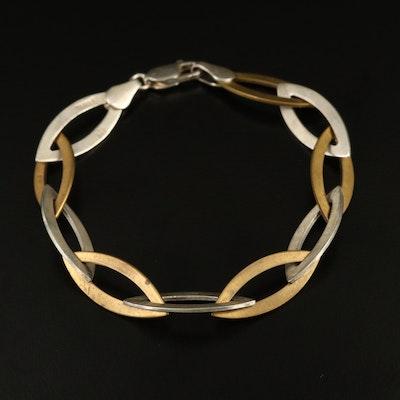 Topkapi Sterling Silver Navette Link Bracelet