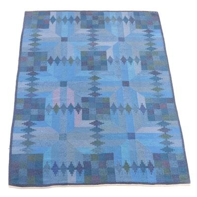 5'6 x 8'4 Hand-Knotted Swedish Leksands Hemslöjdsforening Wool Rug