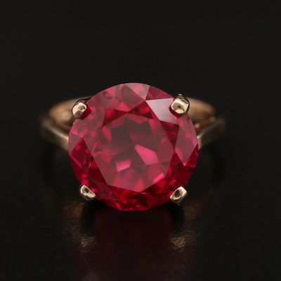 Vintage 14K Cathedral Ruby Ring