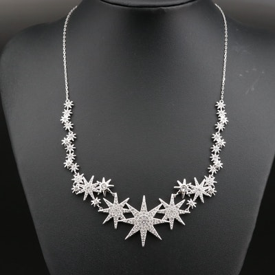 Swarovski Crystal Star Sparkle Stationary Necklace