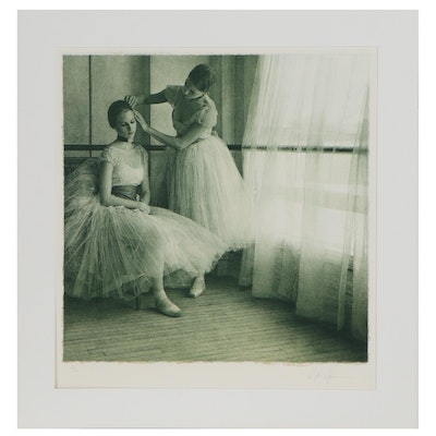 "Douglas Hofman Lithograph ""Before the Ballet II,"" 1990"