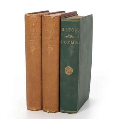 "Dante's ""Inferno"" and ""Purgatorio"" 1870 with ""The Poetical Works of Milton"" 1871"
