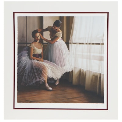 "Douglas Hofmann Lithograph ""Before the Ballet,"" Late 20th Century"