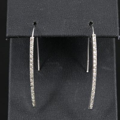 14K Glitter in Resin Drop Earrings