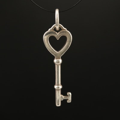 Tiffany & Co. Sterling Silver Heart Key Pendant