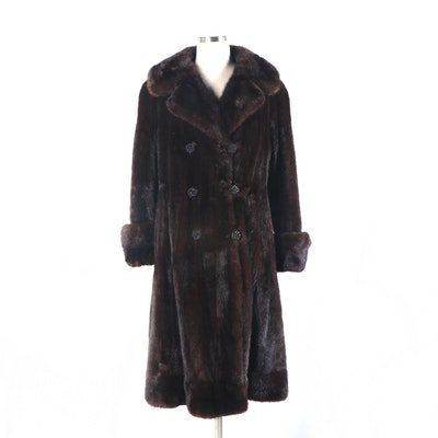 Stanley Rich Double Breasted Mink Fur Coat, Mid to Late 20th Century