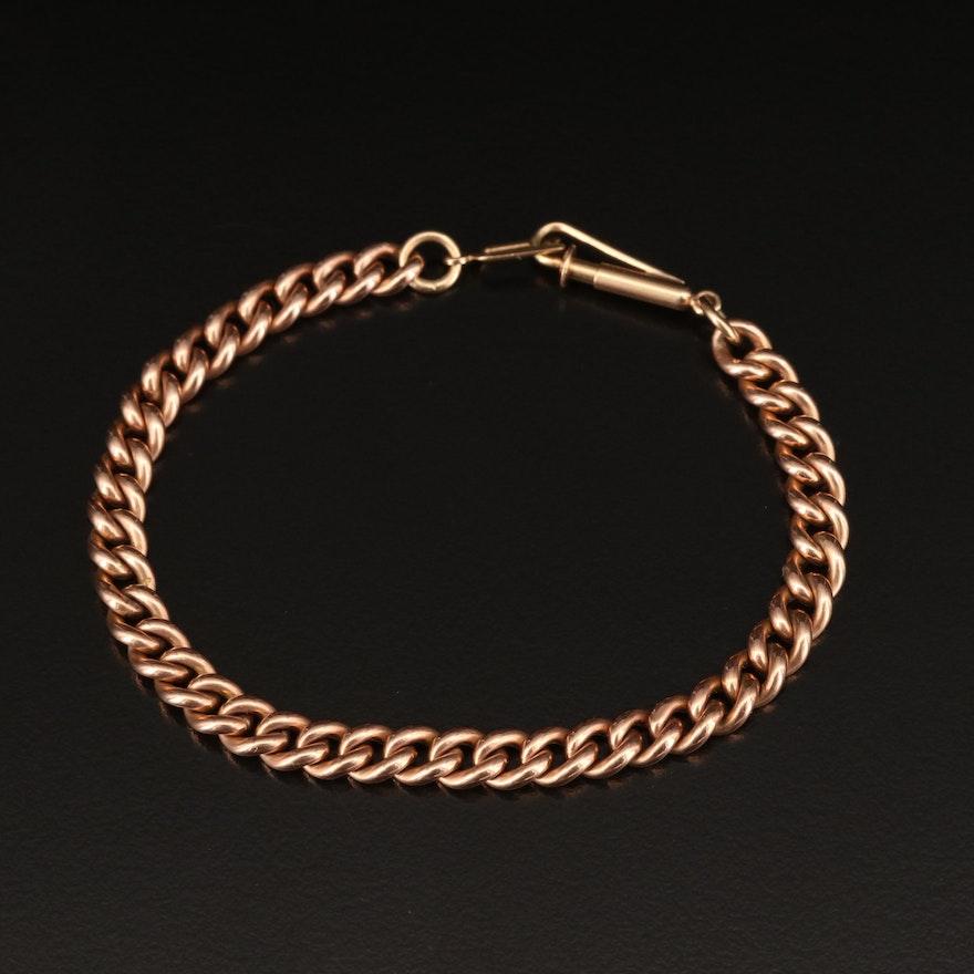 Vintage Curb Chain Bracelet with 14K Clasp