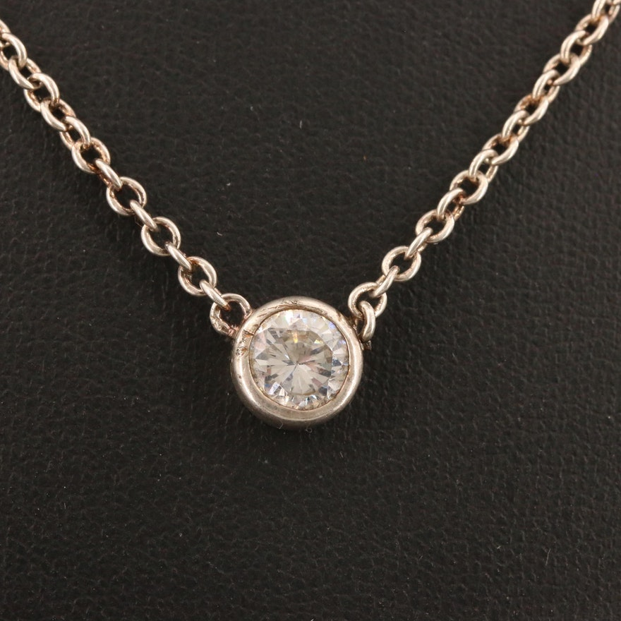 Sterling Cubic Zirconia Necklaces with Pearl Bracelet