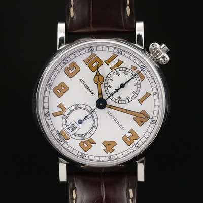 Longines Avigation Type A - 7 1935 Monopusher Chronograph Wristwatch