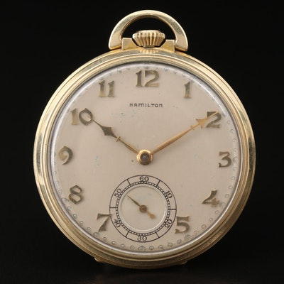 1937 Hamilton 14K Gold Filled Pocket Watch